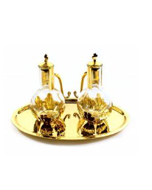 1511 – Servizio ampolle su vassoio 23×14 cm bc