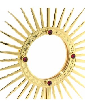 520048 Ostensorio 3 Angeli in metallo dorato Altezza cm 31 a 800x800