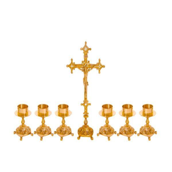 Castiçal c12 – 7 peças vela de altar 1