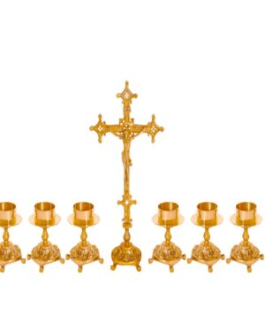 Castiçal c12 – 7 peças vela de altar