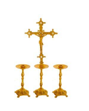 Castiçal c13 – 7 peças Cruz Alta vela 35cm 1