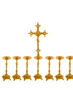 Castiçal c13 – 7 peças Cruz Alta vela 35cm