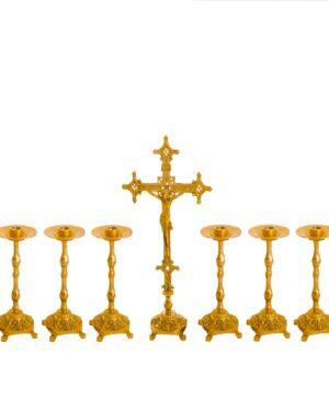 Castiçal c13 – 7 peças Cruz Baixa vela 35cm 1