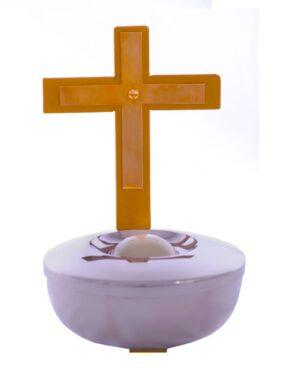 Pia para água benta com esfera pa01 00