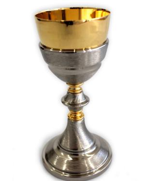 Cálice Italiano Dourado e Prateado