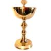 Âmbula Dourada com cruz na tampa e detalhes boleados no meio