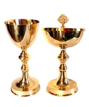 Conjunto Âmbula Cálice Dourado