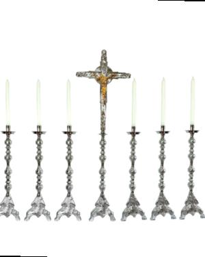 Castiçal c 127 – 7 peças vela de 25cm 1
