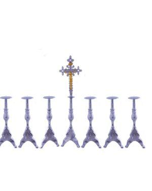 Castiçal c 140 – 7 peças vela de altar 7cm 0 6