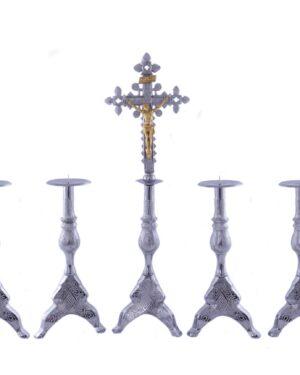 Castiçal c 140 – 7 peças vela de altar 7cm 1
