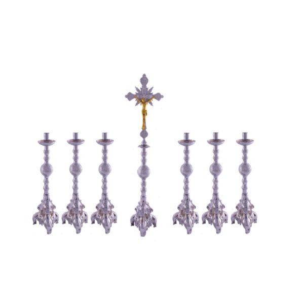 Castiçal c 180 – 7 peças vela de 25cm 0 3