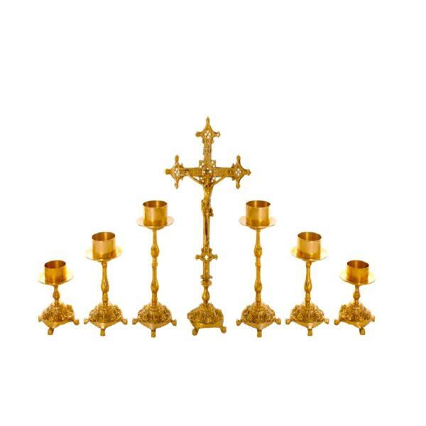 Castiçal c05 – 7 peças vela de altar 1 1