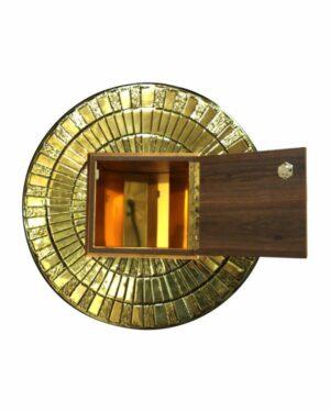 sacrario embutir redondo dourado aberto 675x899