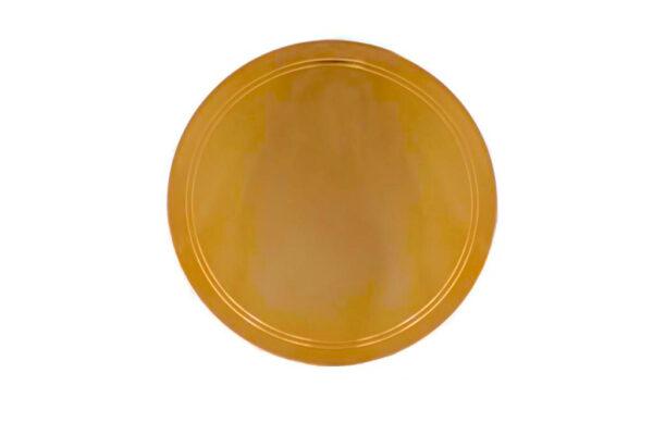 patena dourada 13 cm