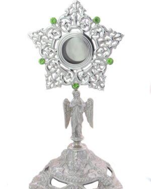relicario anjo prata